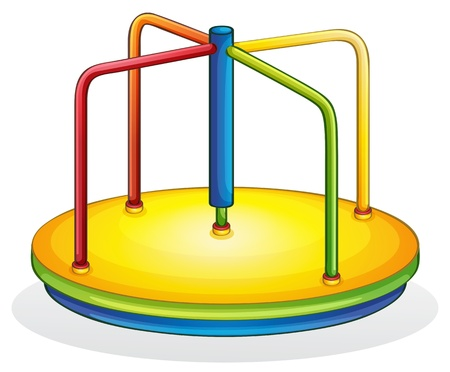 central park: Isolated illustration of play equipment - spinner