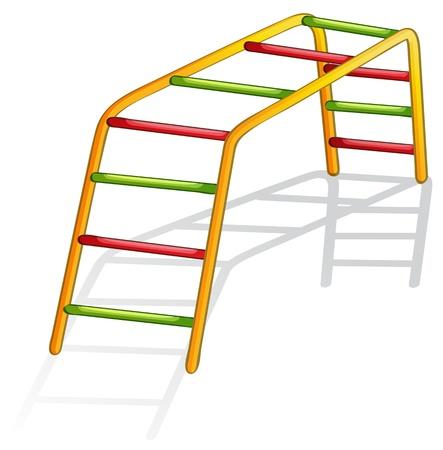 sports bar: Isolated illustration of play equipment - monkey bars Illustration