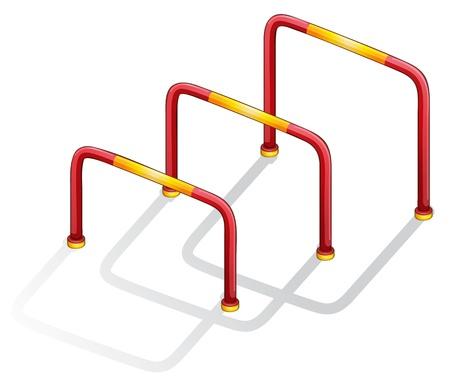 hurdles: Isolated illustration of play equipment - hurdles Illustration