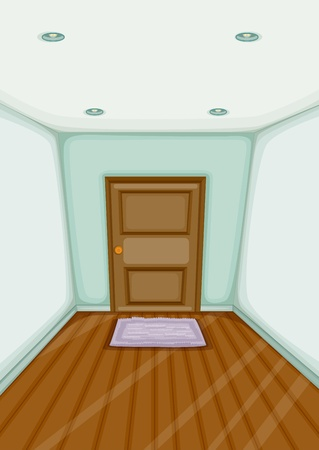 polished floor: Illustration of an empty entrance
