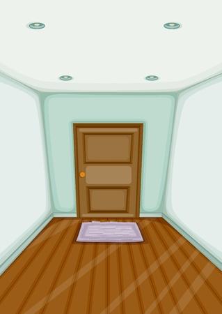 pavimento lucido: Illustrazione di un ingresso vuoto