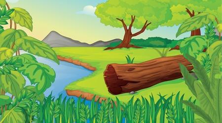 Illustration of wilderness scene Vector