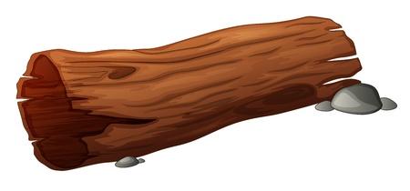 Oude bossen log design element Stock Illustratie