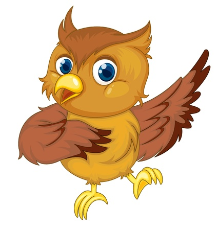 Illustration of an isolated comical owl Vector