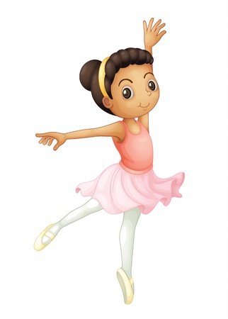 Illustration of a young ballerina