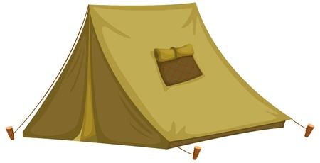 палатка: Иллюстрация изолированных палатки