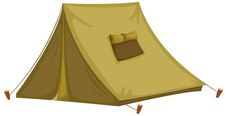 Illustration of an isolated tent Vector