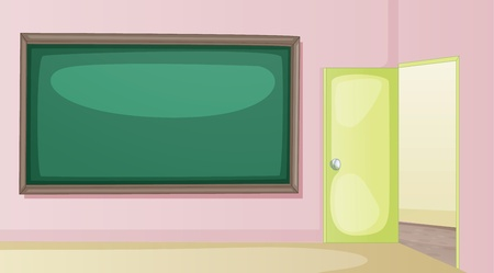 Illustration of an empty classroom Vector