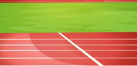 Ilustración de una pista de atletismo