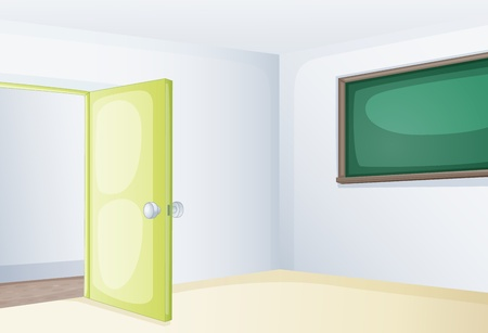Illustration of an empoty classroom Vector