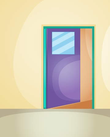 Illustration of an open door Vector