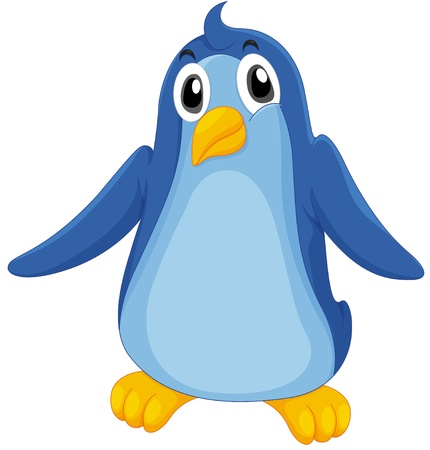 Illustration of a comical penguin Vector