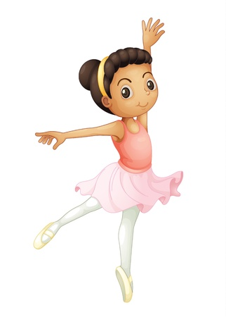 turn on: Ballerina of a white background Illustration