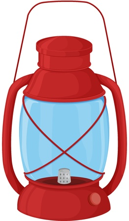 kerosene: Illustration of a camping lantern on white