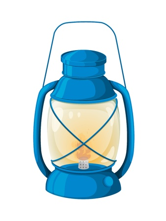 kerosene lamp: Illustratino of a lantern on white