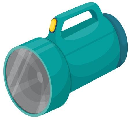 taschenlampe: Isolierte Taschenlampe auf wei�em Hintergrund