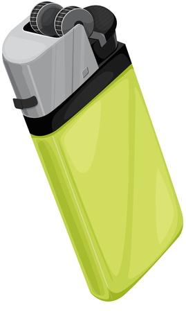Cigarette lighter on white background Stock Vector - 13376643