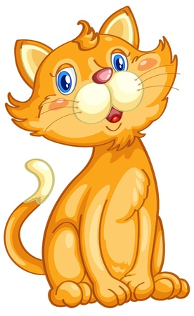 animated: Illustration of a cute ginger cat Illustration
