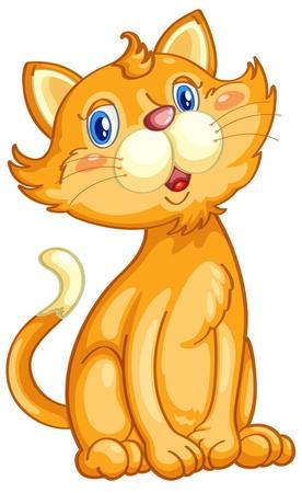 Ilustración de un gato de jengibre lindo