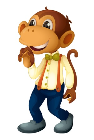 Man-like monkey on a white background Vector