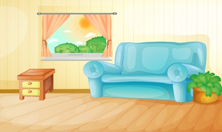 Interior of a house living room Vector