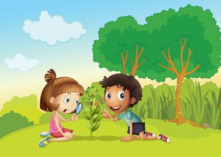 patio escuela: Los ni�os de la ciencia en el parque