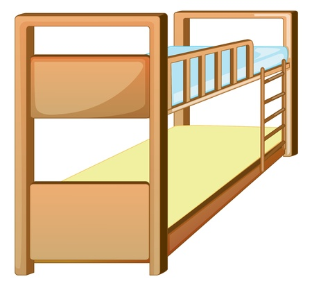 bunkbed: Illustration of an isolated bunk bed