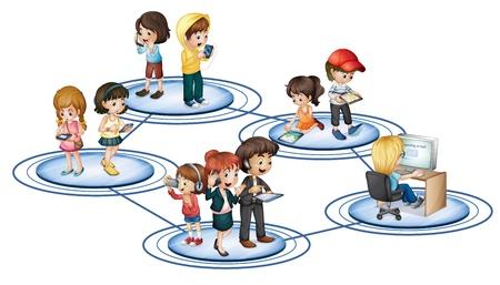 Ilustraci�n de la red social de convept