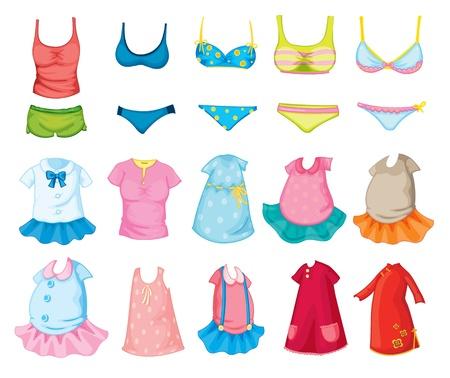Mixed children's clothes on white Stock Photo - 13376799