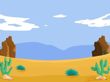 pustynia: Ilustracja na białym tle Ilustracja