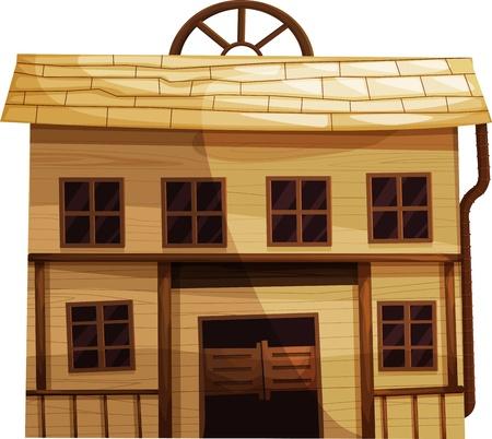 taberna: Ilustraci�n de un edificio aislado en el Salvaje Oeste