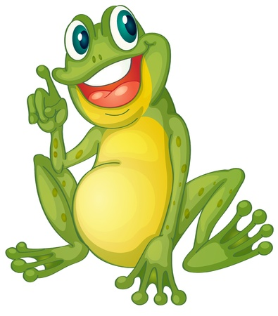 green frog: Illustration of a frog cartoon character