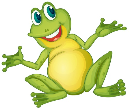 open eye: Illustration of a frog cartoon character
