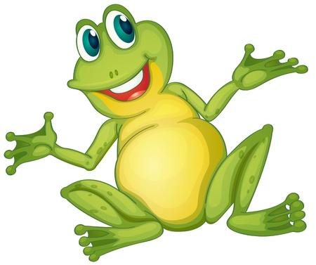 sapo: Ilustración de un personaje de dibujos animados rana Vectores