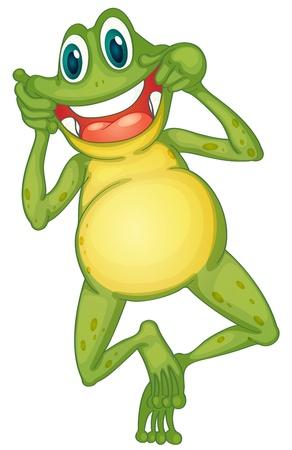frosch: Illustration eines Frosches Zeichentrickfigur Illustration