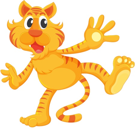 wil: Isolated tiger on a white background