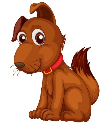 floppy: Illustration of a single cute dog in cartoon style
