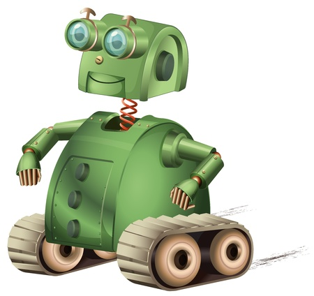 Illustration of an old style robot Vector