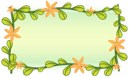 Blank template with leafy border Stock Vector - 13494040