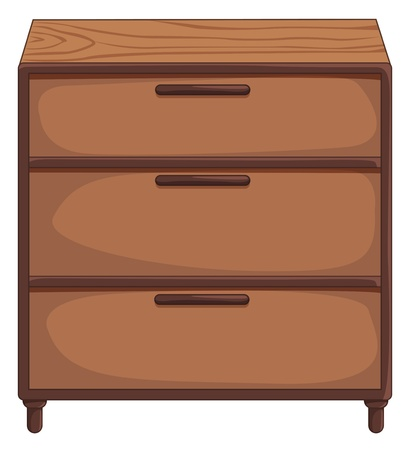 Illustration of isolated drawers Vector