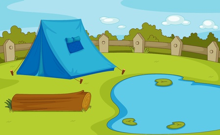 hush hush: Illustration of a camping site