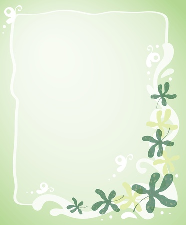 Blank template with leafy border Vector
