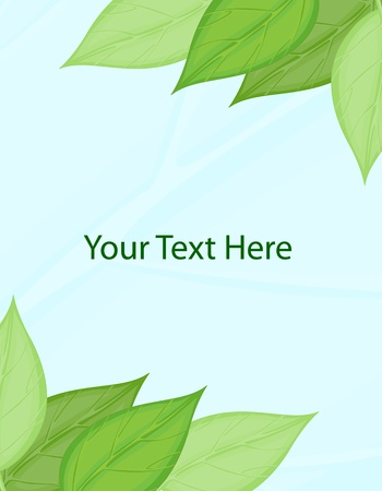 Blank template with leaf border Stock Vector - 13494005