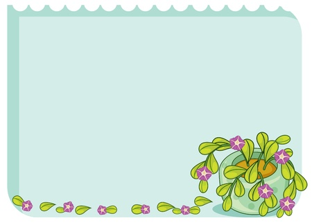 Blank template with leafy border Stock Vector - 13494120