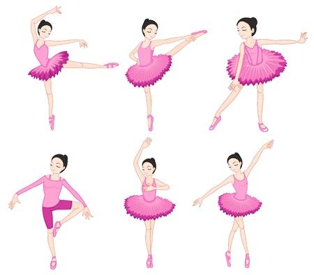 Illustraiton of ballerinas on white Vector