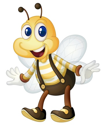 Illustraiton of a comical bee Stock Vector - 13494195