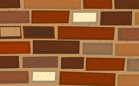 illustraiton: Illustraiton de una pared de ladrillo Vectores