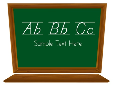 Illustraiton of blackboard on white with text Stock Vector - 13494136