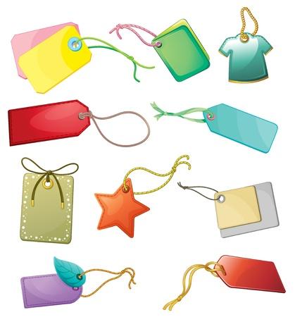 illustraiton: Illustraiton of mixed shopping tags Illustration