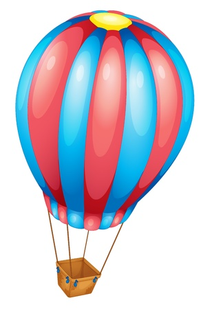 Hot air balloon of white Vector